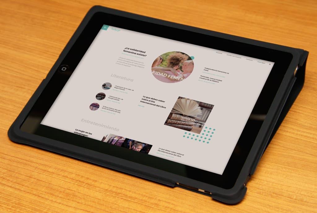 Andariega Magazine Diseño web