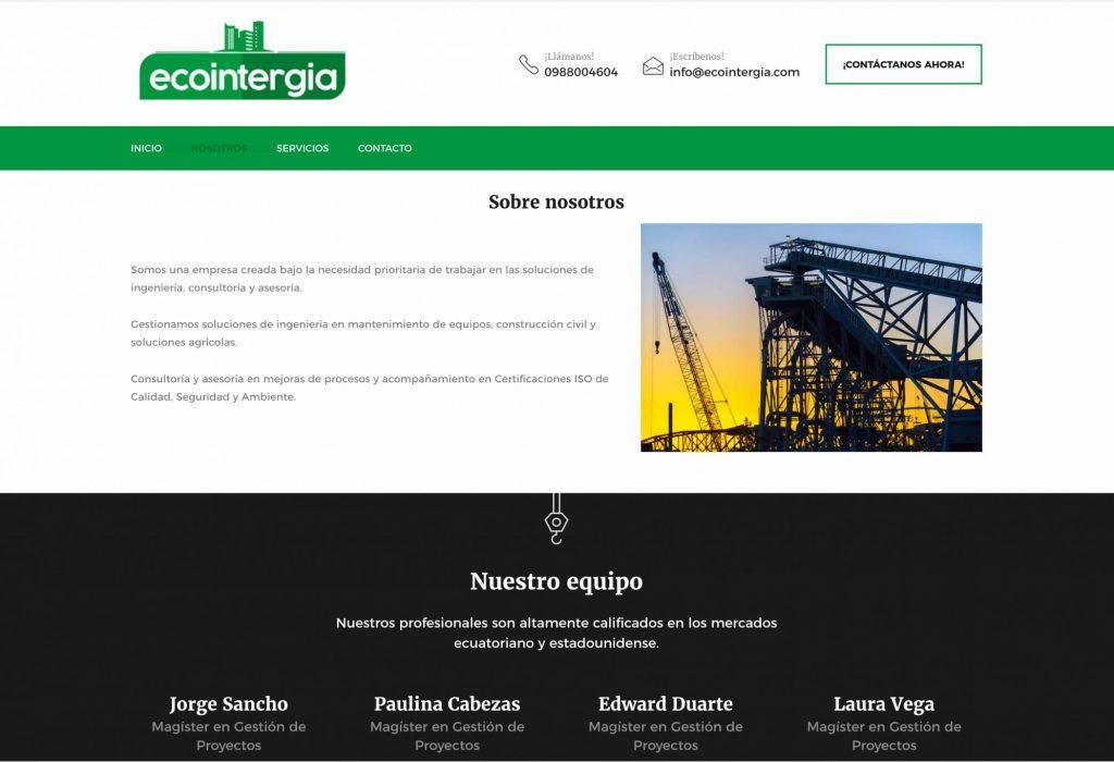 Ecointergia Sitio web