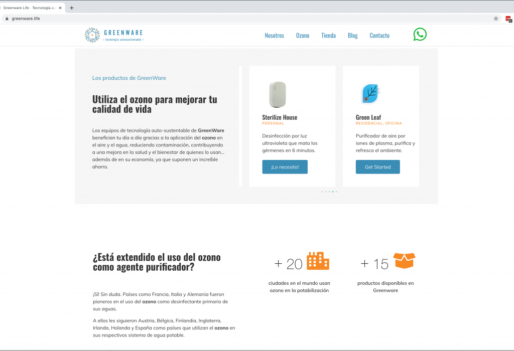 Greenware Diseño web